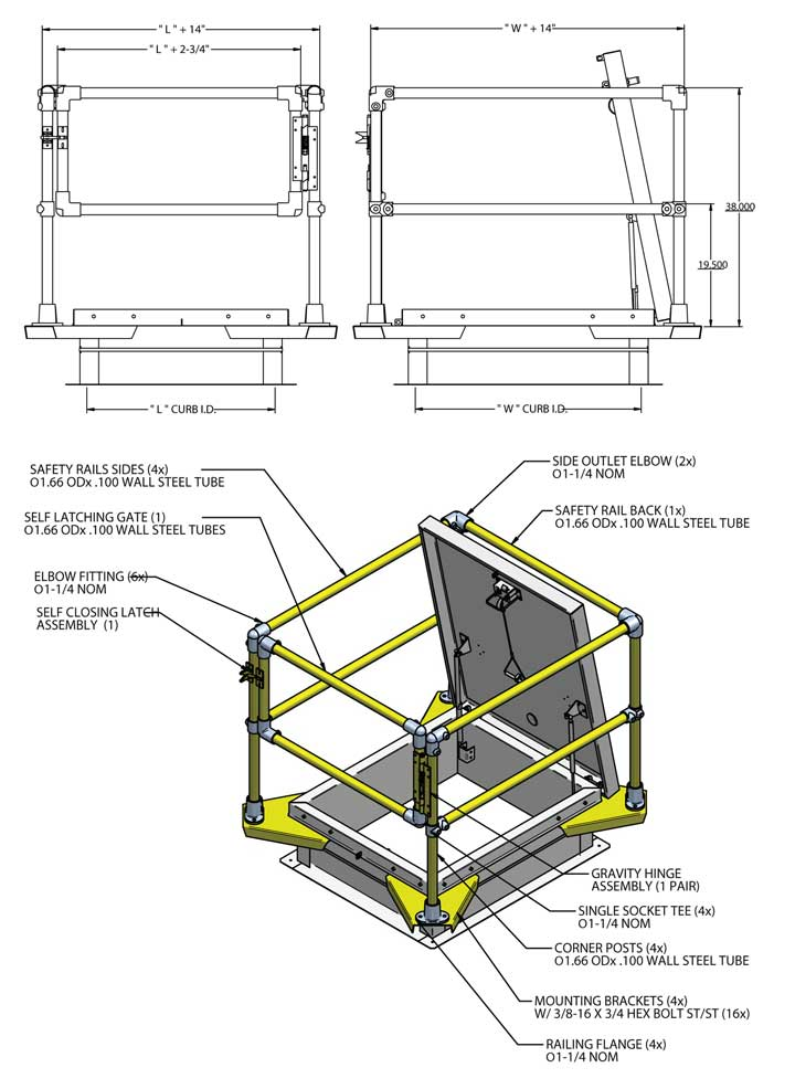 RGS Safety Rail schematic